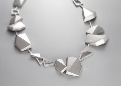 Regine Shwarzer, Australia. Hexagonal Facets, 2010, sterling.