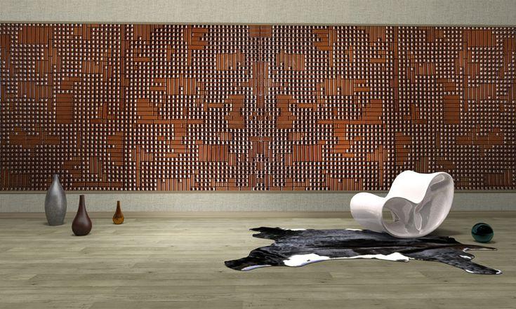 Whispers - Ceramic  #3D #Wall by Grzeskiewicz Design Studio