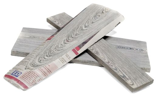 Paper made from wood turned back into recycled wood.