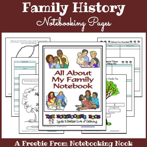 Freebie - Family History Notebook