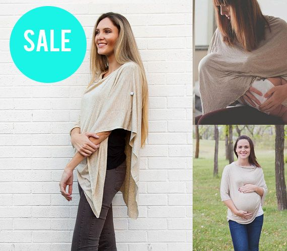 SALE Nursing Cover Poncho | Oatmeal Nursing Cover | Breastfeeding Cover By Cover Me Ponchos