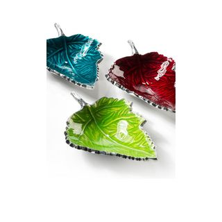 Fairtrade Recycled Aluminium Set of 3 Leaf Inspired Dishes £20.00