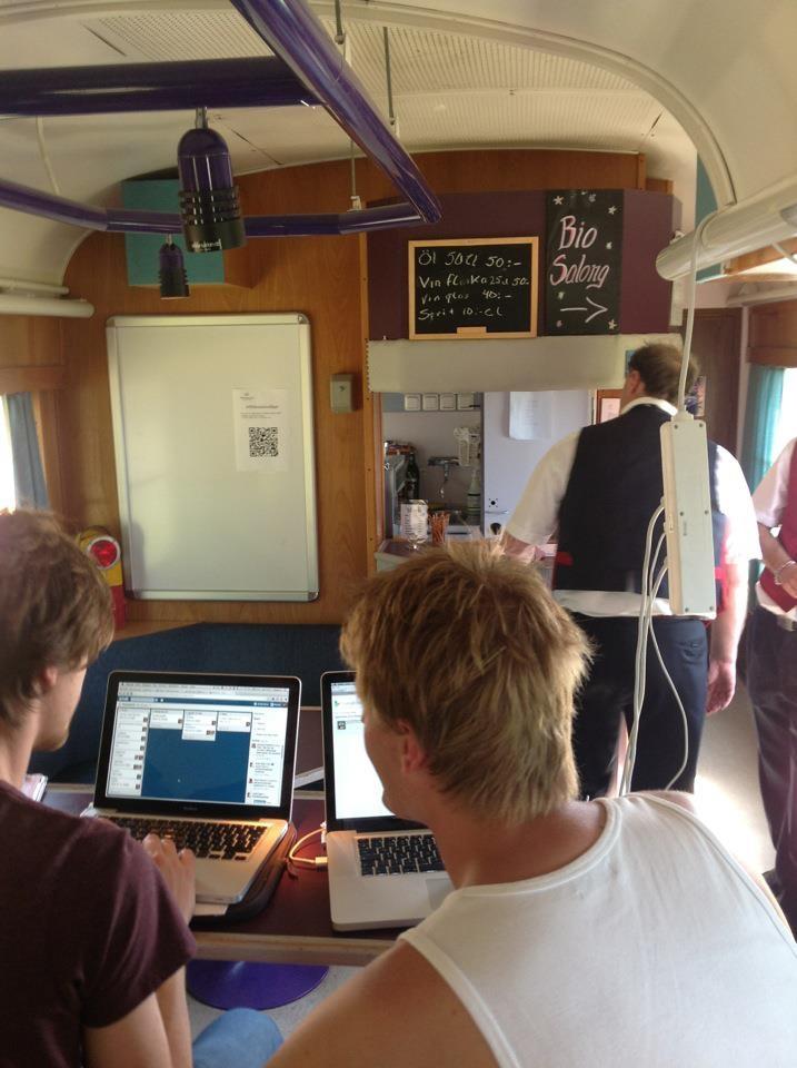 Powerbaren på tåget från #sswc