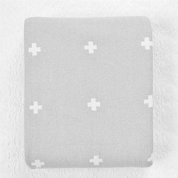 Jamie Kay Cross Blanket Grey & White $99.00 - $199.00 #sweetcreations #baby #toddlers #kids #bedding