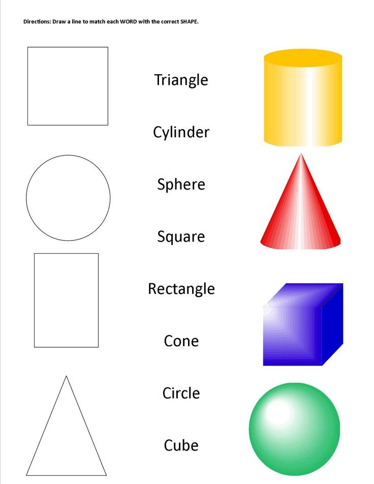 Geometric Shapes & Solids worksheet
