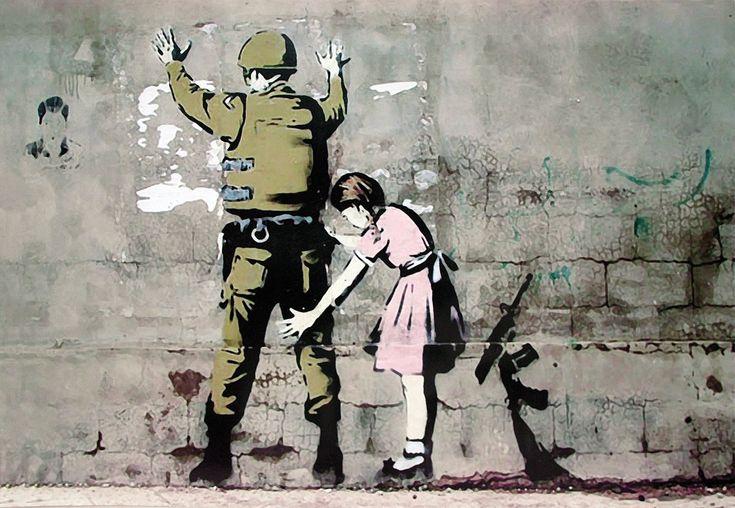 Banksy Dziewczynka i Żołnierz - plakat
