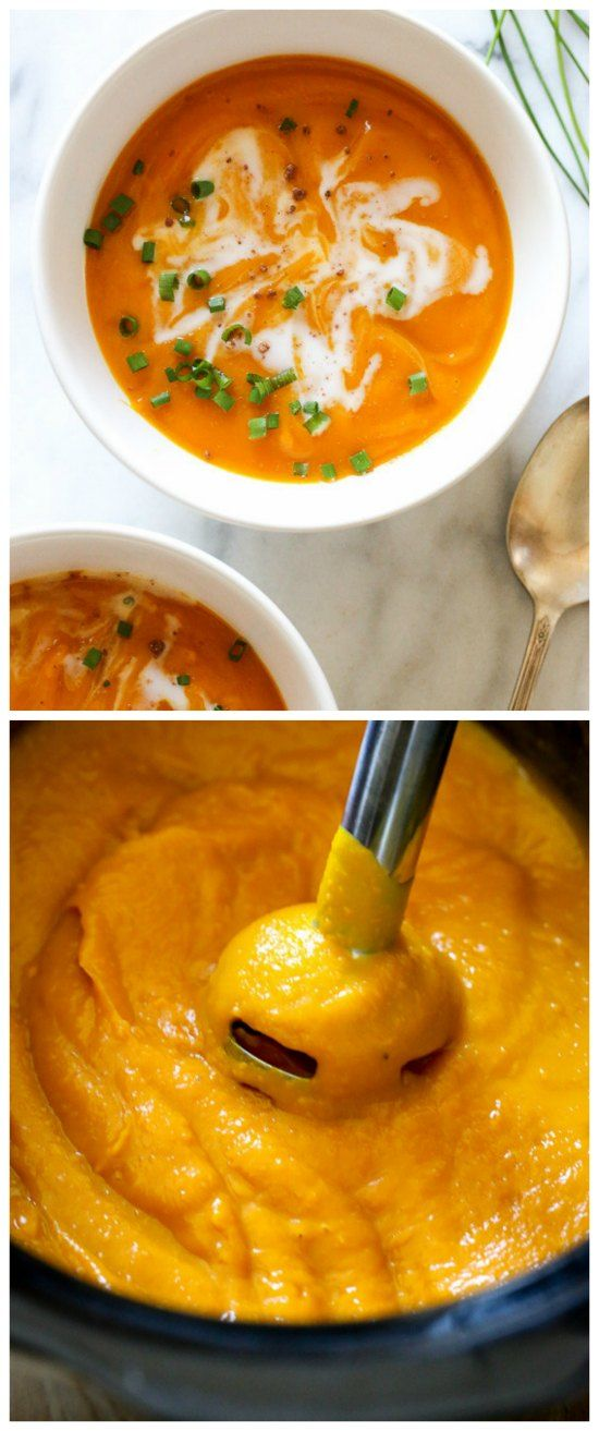 Slow Cooker Blissful Butternut Squash Soup from Skinnytaste featured ...