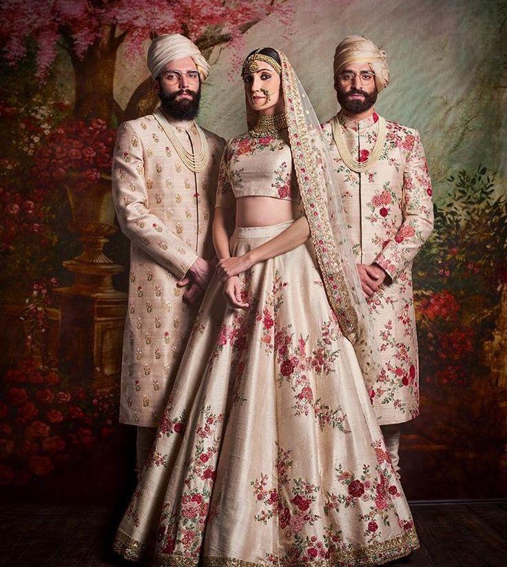 Sabyasachi # bride # groom # fashion # sherwani # lehenga