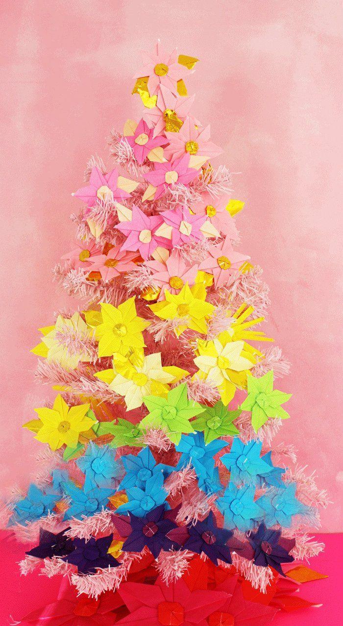 Fabriquer Sapin De Noel En Papier ▷ 1001 + idées pour une décoration de noël à fabriquer en