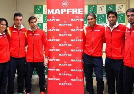 Naffta, con la selección española de Copa Davis en el duelo ante Dinamarca
