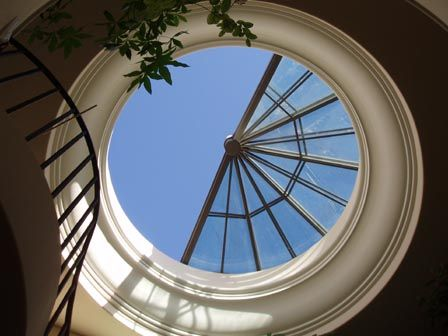 retracted glass roof