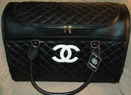 Black Chanel Dog Carrier Dog Bags Purses Carriers