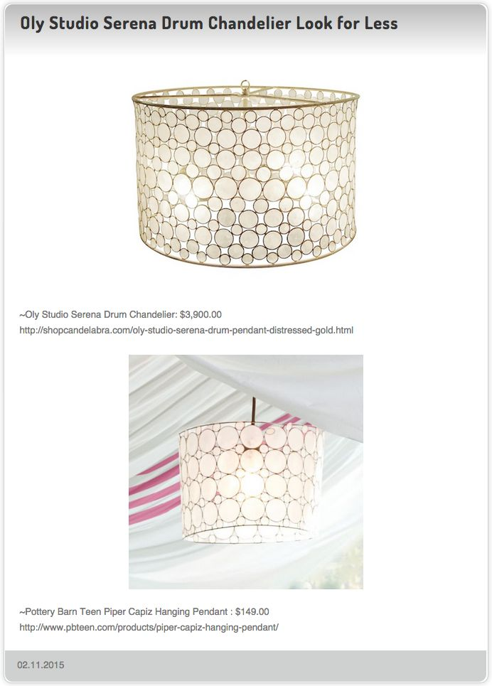 Oly Studio Serena Drum Chandelier 3 900 00 Vs Pottery