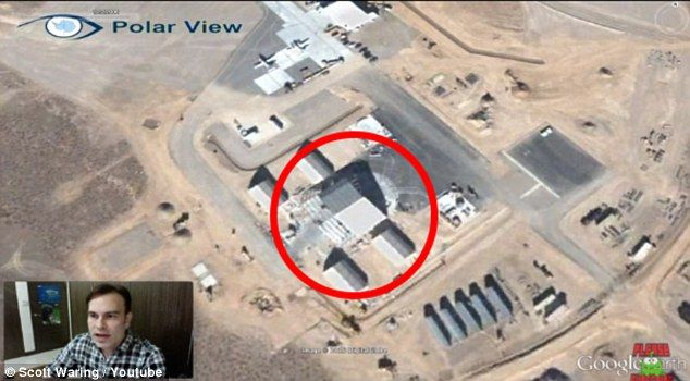 A recent video illustrates how to 'travel back in time' on the platform to located a 30-meter UFO at Area S4 - a 'top-secrete facility' an ex-Area 51 employee claims housed UFOs in 1989. The conspiracy theorist claims the saucer is located in a 'climate controlled hanger' near the 'third dry lake left of Area 51'