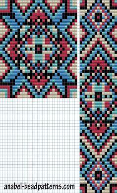 """Схема гердана """"Яркие узоры"""" - станочное ткачество"""