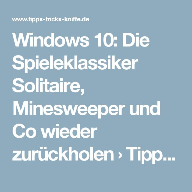 Minesweeper Tipps