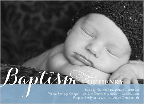 Precious Swirls Boy Baptism Invitation