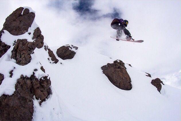 En el colorado #chile #snowboard #hermit