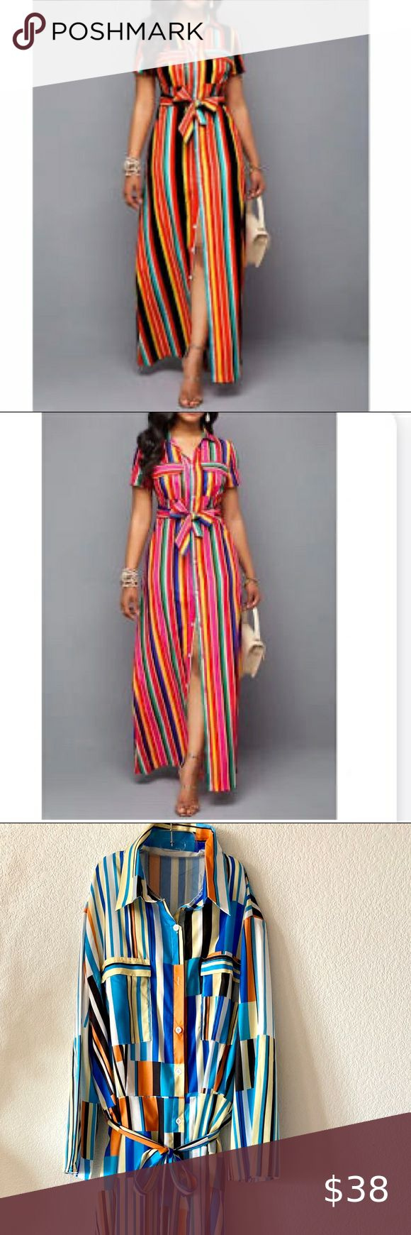 Plus Size Belted Rainbow Stripe Maxi Dress In 2020 Striped Maxi Dresses Striped Maxi Plus Size Belts [ 1740 x 580 Pixel ]