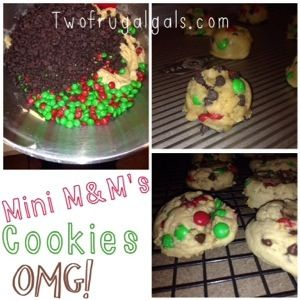 chocolate chip cookies with M&M's. The kiddos loved them! Grab a glas...