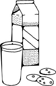 milk and cookies clip art