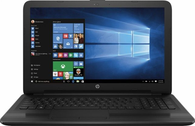 "HP - 15.6"" Touch-Screen Laptop - Intel Core i3 - 6GB Memory - 1TB Hard Drive - Black - Front Zoom"