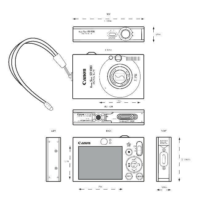 Orthographic Drawing (digital camera)
