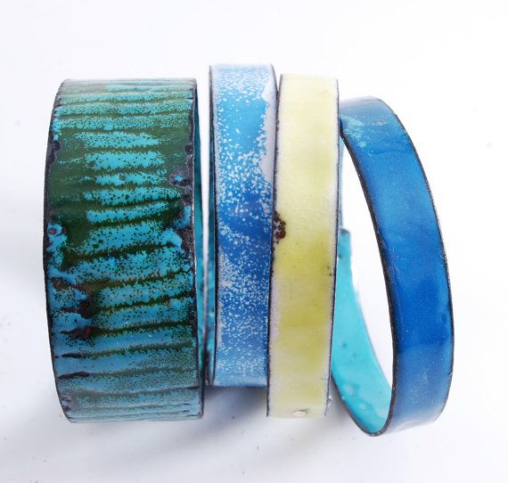 STRIPES   enameled bangles by OYRZANOWSKA on Etsy