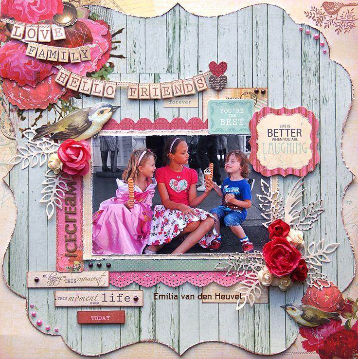 "Emilia van den Heuvel: Ice Cream {Kaisercraft & Merly Impressions met uitleg} TELEGRAPH ROAD"" collection"