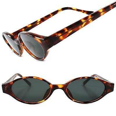 True Vintage 50s 60s Old Fashioned Tortoise Womens Oval Lens Cat Eye Sunglasses