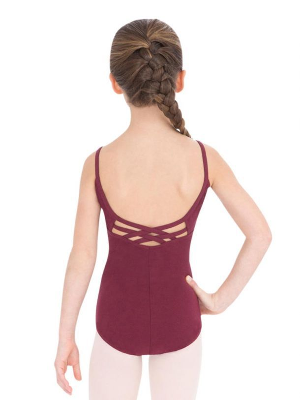 e6f324c145d7 Children s V-Neck Cami Leotard with Strappy Back