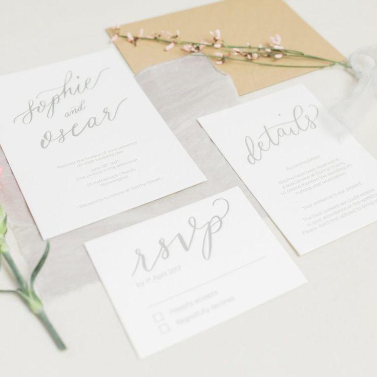 Luxury letterpress wedding invitation suite 19 best
