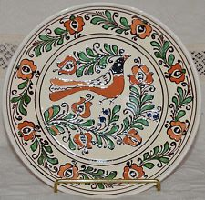 Szekely Transilvanian KOROND Hungarian Folk Art Pottery Plate NEW Bird 9 1/2