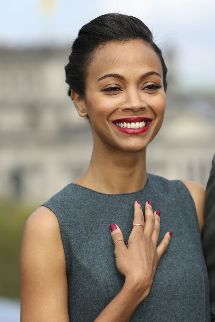 Actress Zoe Saldana attends the 'Star Trek Into Darkness' Photocall at China Club on April 28, 2013 in Berlin, Germany.