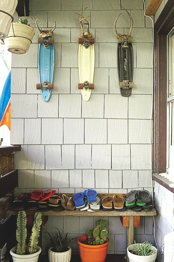 Delicieux This Coastal Storage Spot In San Francisco, California, Gets A Punch Of  Quirky Personality When Vintage Skateboards Are Mounted To The Wall As Art.
