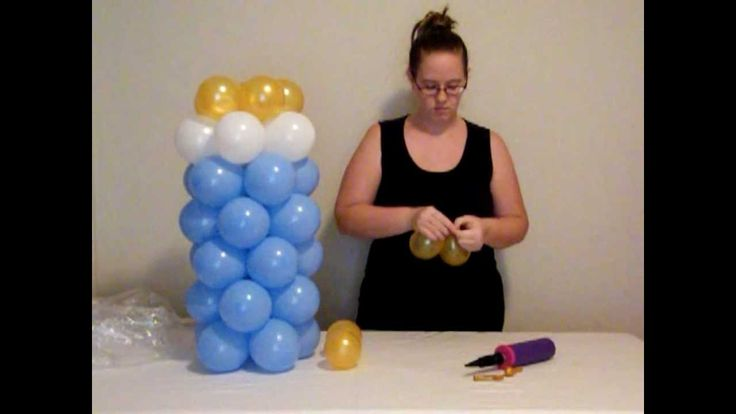 How to make balloon baby bottle. Definitely gonna make these for Brenson's barbeque just different colors!