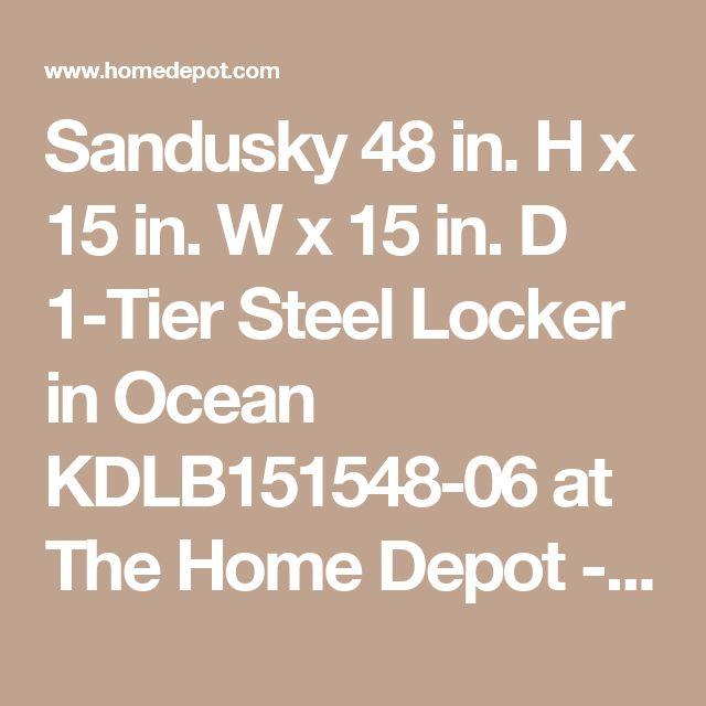 Sandusky 48 in. H x 15 in. W x 15 in. D 1-Tier Steel Locker in Ocean KDLB151548-06 at The Home Depot - Mobile