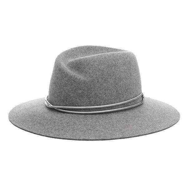 Rag & Bone Zoe Fedora RAG & BONE (365 CAD) ❤ liked on Polyvore featuring accessories, hats, home, valentines shop, women's, brim fedora, gray hat, grey fedora hat, grey fedora and sports hats