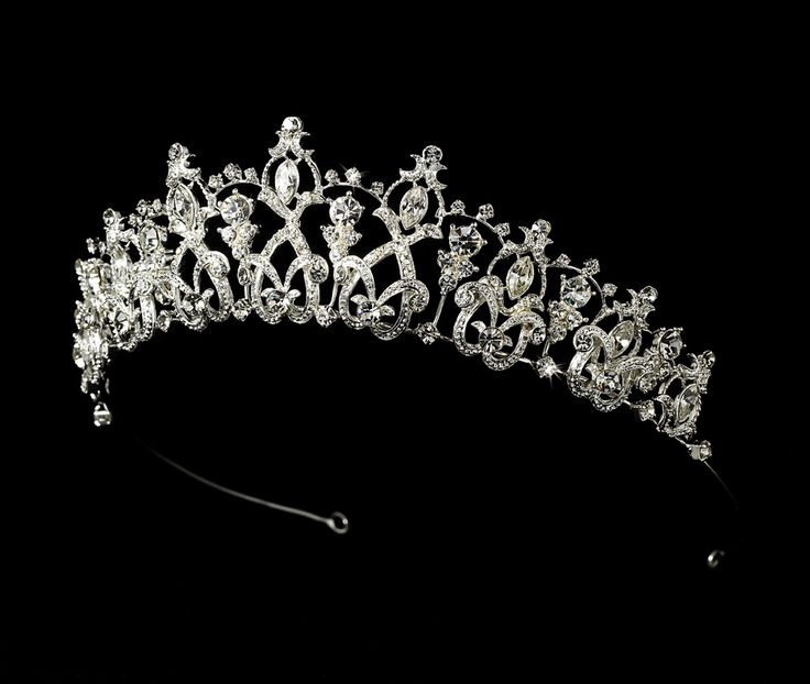 classic rhinestone tiara for wedding and quinceanera