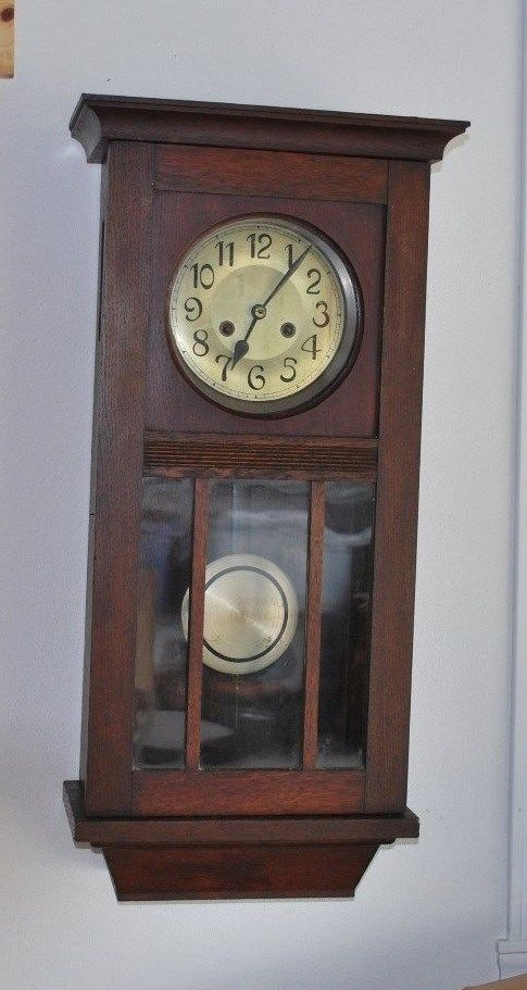1474 best images about time on pinterest for Arts and crafts style wall clock