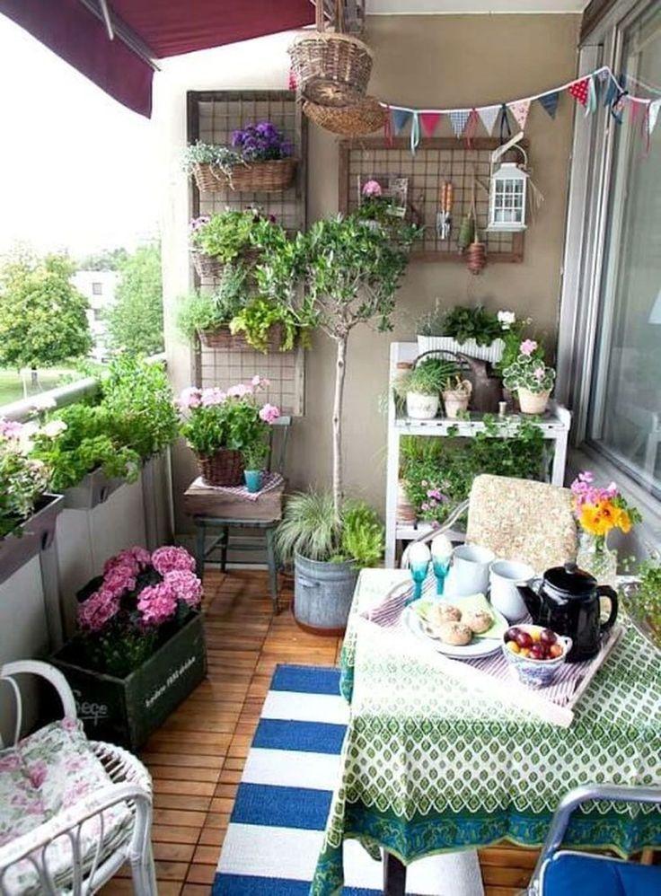 36 Fantastische Gartenideen Fur Kleine Balkone Haus Designer Wohnung Balkon Garten Kleines Balkon Dekor Balkon Dekor