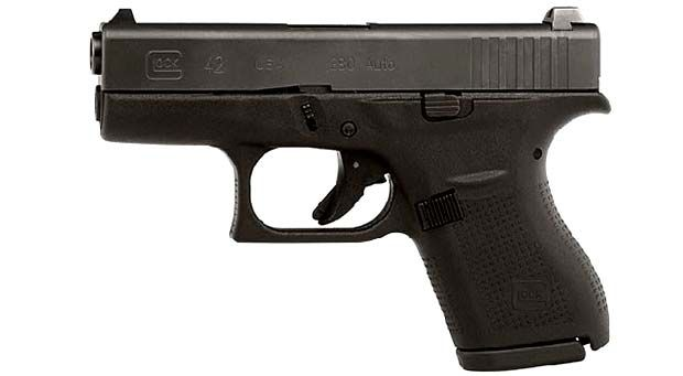 The new Glock 42. It is a single-stack .380 ACP pistol.