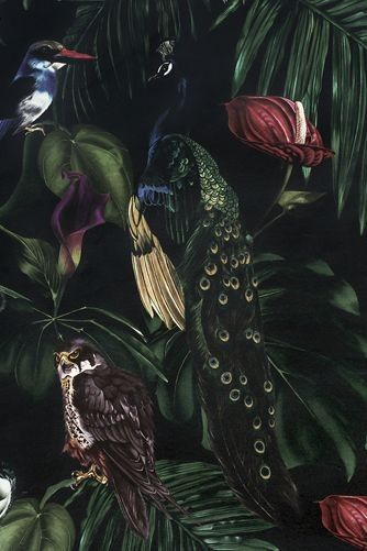 Amazonia Dark Wallpaper by Witch and Watchman - 10 m Roll - Wallpaper - All - Wallpaper & Decor