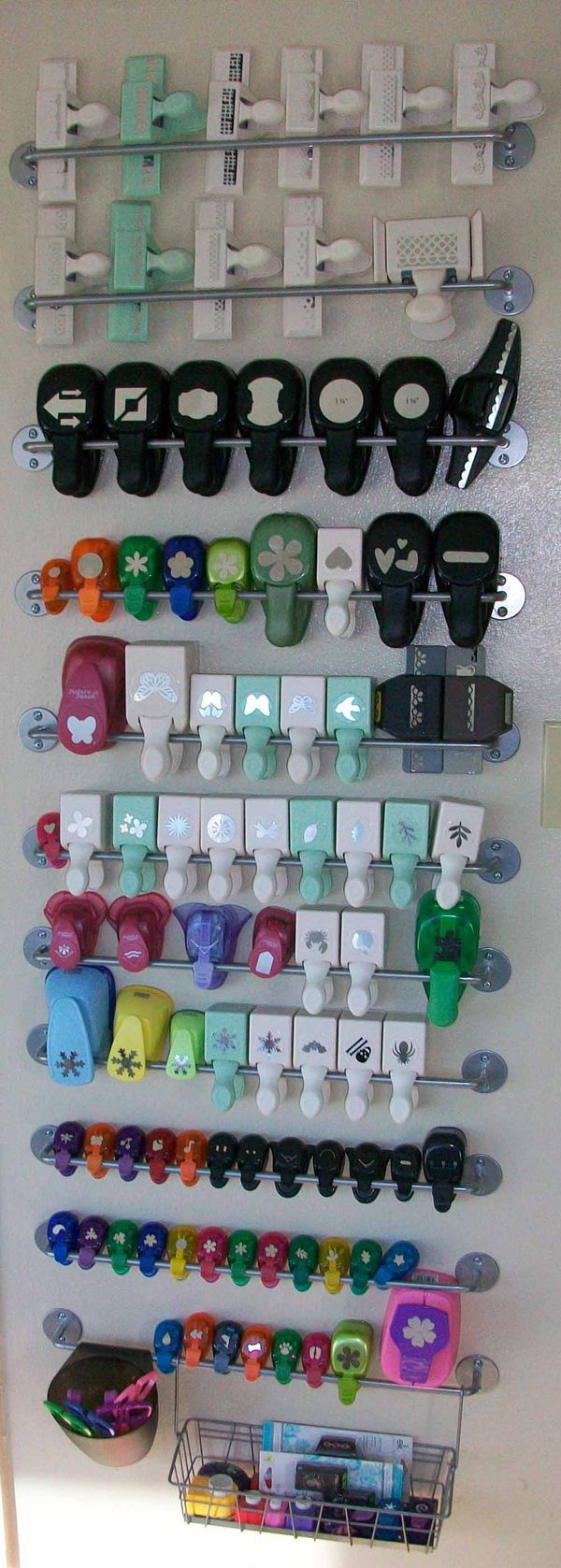 Smart way to store anything with handles.