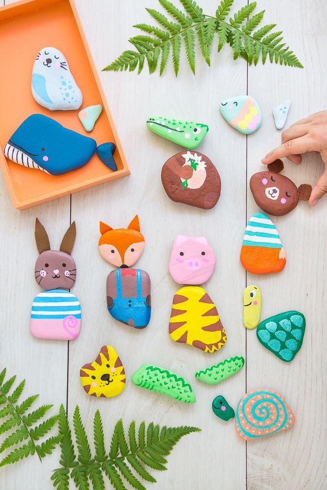 Steintiere  # DIY mit Naturmaterialien: Ideen für das ganze Jahr