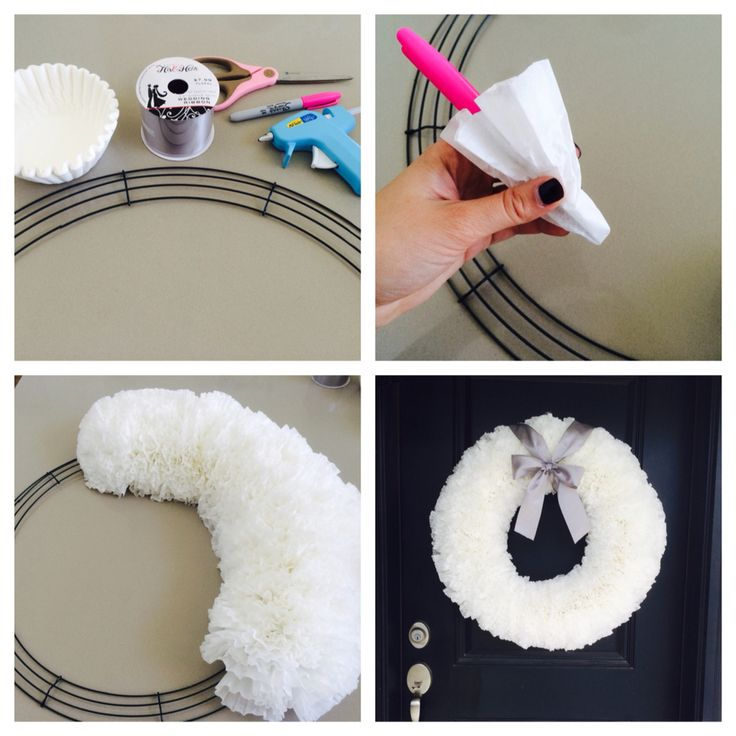 how to make a bow for a wreath without wire