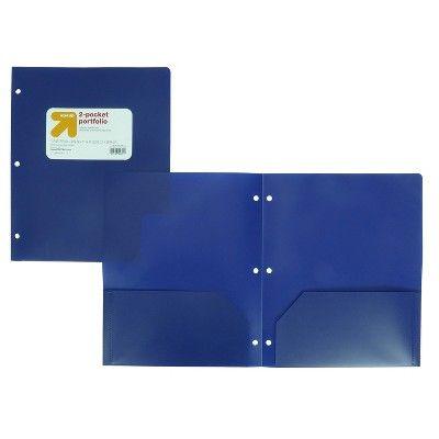 Plastic Folder 2 Pocket Blue - up & up