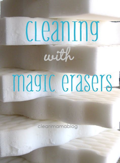 Harness the power of that magic little sponge. Cleaning with Magic Erasers via Clean Mama