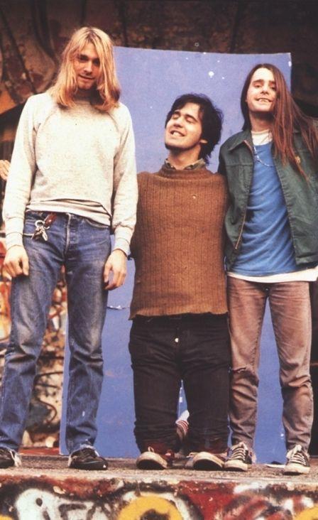 Kurt Cobain, Krist Novoselic and Chad Channing #Nirvana - 4/25/90 - New York, NY.