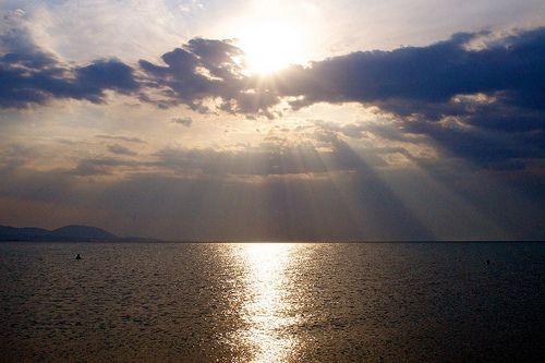 Sun, Clouds, Sea